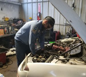 Working On Car